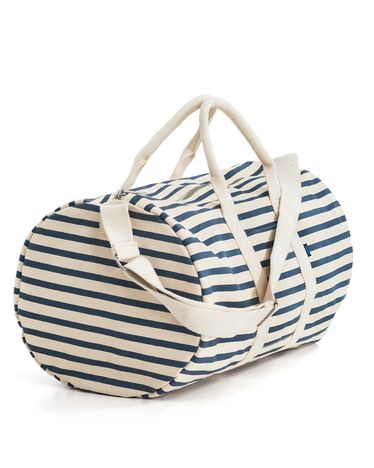 striped duffel bag. cute