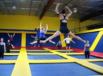 We all had so much fun at Sky High Sports in Pineville! #clt #funday If you get a chance, you must go!
