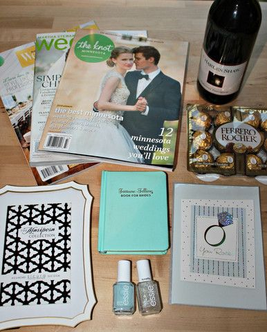 Engagement Gift Ideas: Gift Baskets for the Bride-to-Be #wedding #giftbasket #theknot