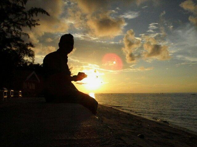 Beautifful sunset in Tg. KARANG, Donggala Middle Sulawesi Indonesia