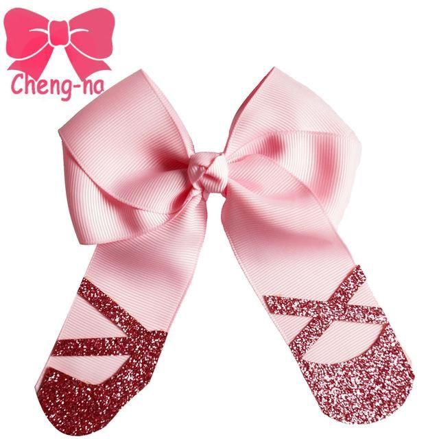 design4 5 hair bow girls gitter hair bows with alligator clip