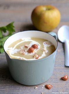 Soupe pommes céleri noisettes
