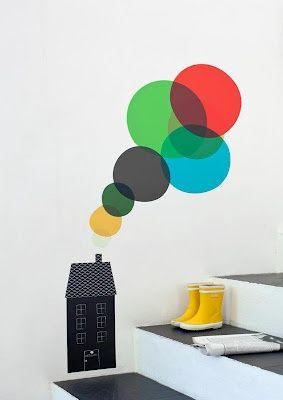 Colourful wall sticker. #design