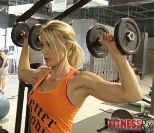 """The Perfect """"Figure 8″ – Part 7: Upper Body Training & On-The-Go Smoothie. In this episode, Tawna discusses the importance of balancing your lower body with serious upper body training and shares a few of her go-to exercises for SHOULDERS and BACK."""
