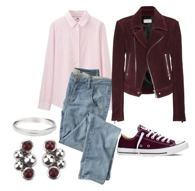 """""""Untitled #1321"""" by mountain-girl-lynn on Polyvore featuring Uniqlo, Wrap, Balenciaga, NOVICA, Converse, women's clothing, women, female, woman and misses"""