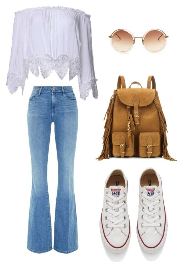 """Untitled #3"" by luc-ka on Polyvore featuring Frame Denim, Converse, Yves Saint Laurent and Linda Farrow"