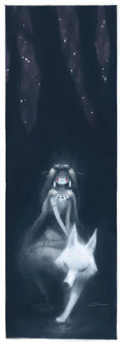 Impresión del arte de la princesa Mononoke                                                                                                                                                                                 Más