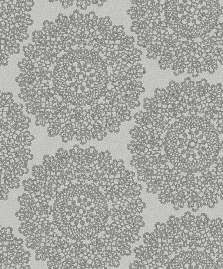 Mandala Silver wallpaper by Albany