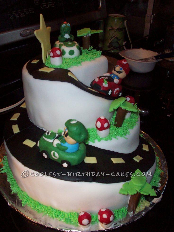 Cool Homemade 2 Tier Mario Kart Cake Birthdays Cakes