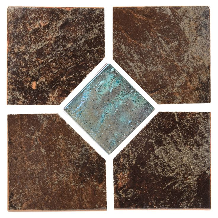 """Coral - Brown Deco Coral series tile from NPT. A bolder earthy tile with moderate variance. Multiple color choices in 2""""x2"""" and 6""""x6"""" with optional accent tiles."""