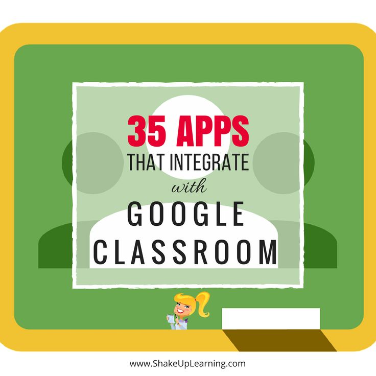 List of 35 Apps that Integrate with Google Classroom, saving to play with later!
