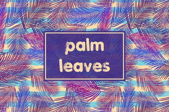 Palm leaves by Alla_Ri_Shop on @creativemarket