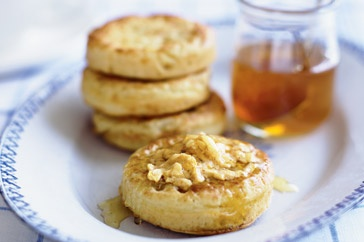 'Bee' kind to yourself and whip up a batch of these sweet golden crumpets.