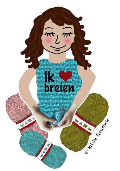 Zó brei je zelf een warme sjaal, illustratie: Hilde Reurink