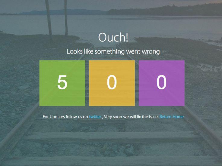 Metro Lab Admin Dashboard Template 500 Error page design  http://themeforest.net/item/metro-lab-responsive-metro-dashboard-template/5359122