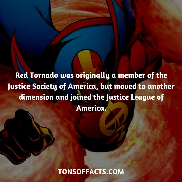 Red Tornado was originally a member of the Justice Society of America, but moved to another dimension and joined the Justice League of America. #redtornado #tvshow #justiceleague #comics #dccomics #interesting #fact #facts #trivia #superheroes #memes #1 #movies