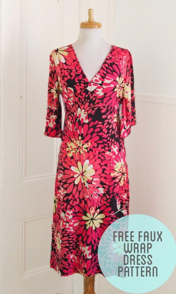 Free Wrap Dress Pattern #sewing #pattern