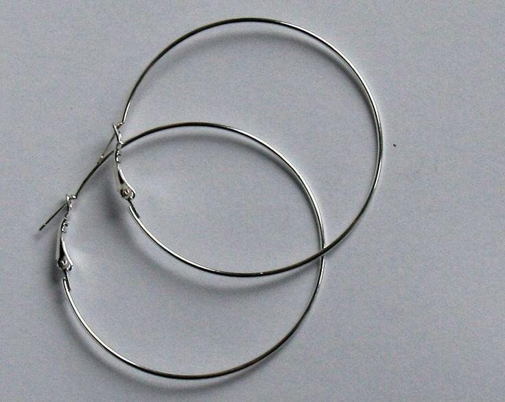 Coppia Cerchi per orecchini argentato