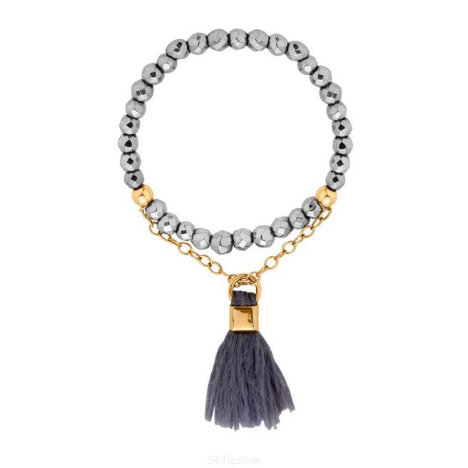 Pierścionek Drop Hematyt - Selfie Jewellery - Sklep Internetowy