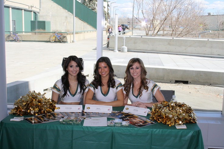 Edmonton Eskimo Cheerleaders at the Grand Opening of Commonwealth Community Rec Centre