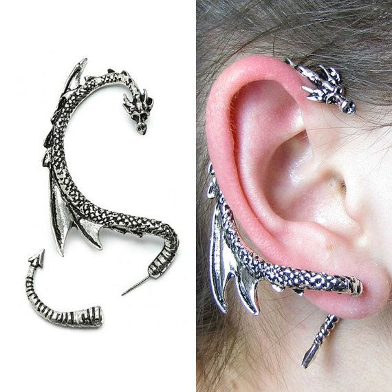 17 best ideas about dragon ear cuffs on pinterest ear wraps dragon jewelry and ear cuffs - Game of thrones dragon ear cuff ...