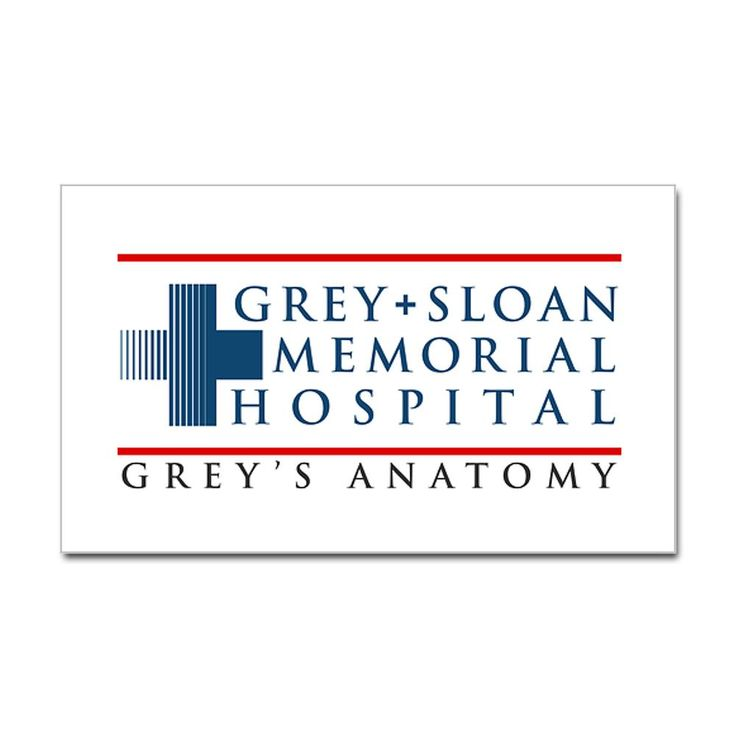 Grey   Sloan Memorial Hospital Rectangle Sticker (Rectangle)