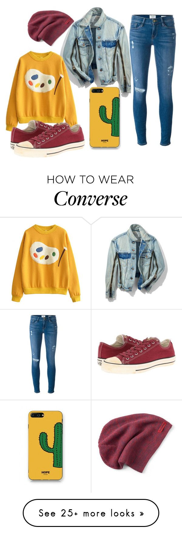 """Untitled #569"" by the-indie-rock-queen on Polyvore featuring Frame, 3.1 Phillip Lim, Converse and WithChic"