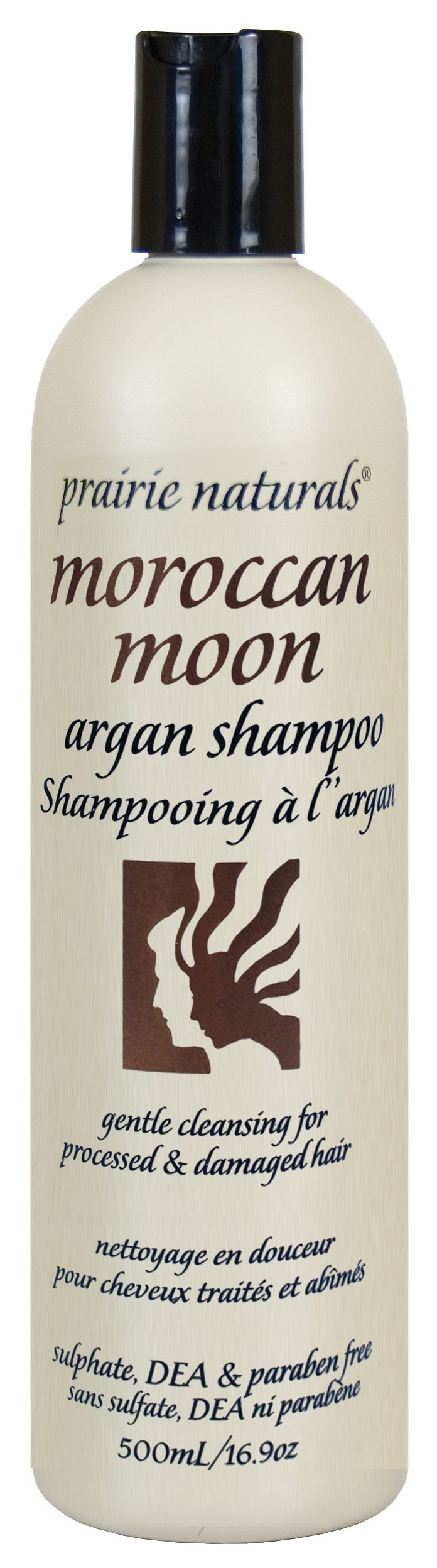 Moroccan Moon Argan Shampoo. Gentle cleansing for processed & damaged hair. Sulphate, DEA & parabean free!