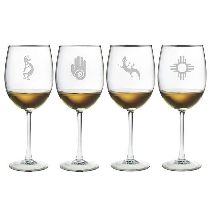 Southwestern Wine Glass