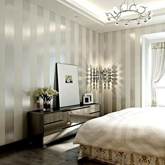 78 best ideas about purple striped walls on pinterest for Purple and silver living room ideas