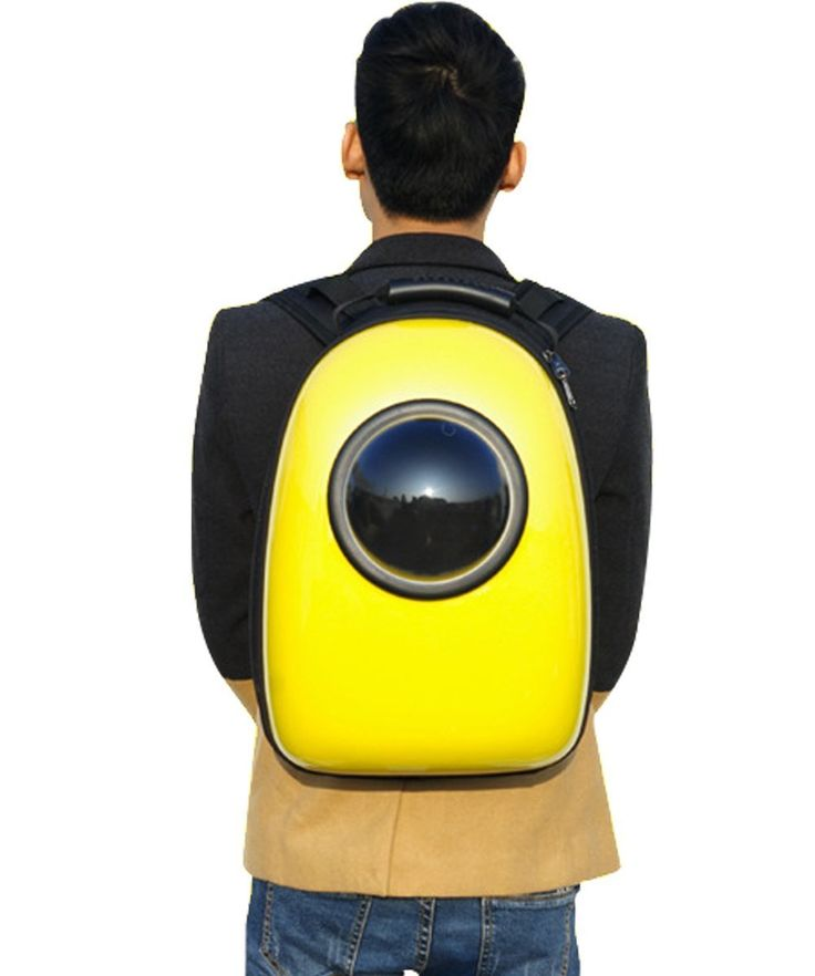 Wanna take your cat with you to see the world? This space backpack does just that!