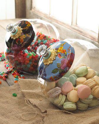 Flower Market Cookie Jar by MacKenzie-Childs at Neiman Marcus.