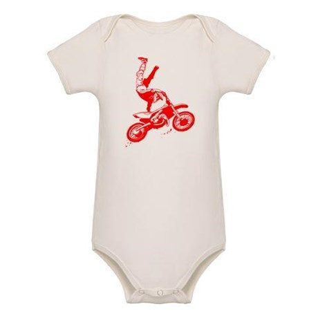 ORGANIC Motocross Baby Onesie by MotocrossBedding on Etsy