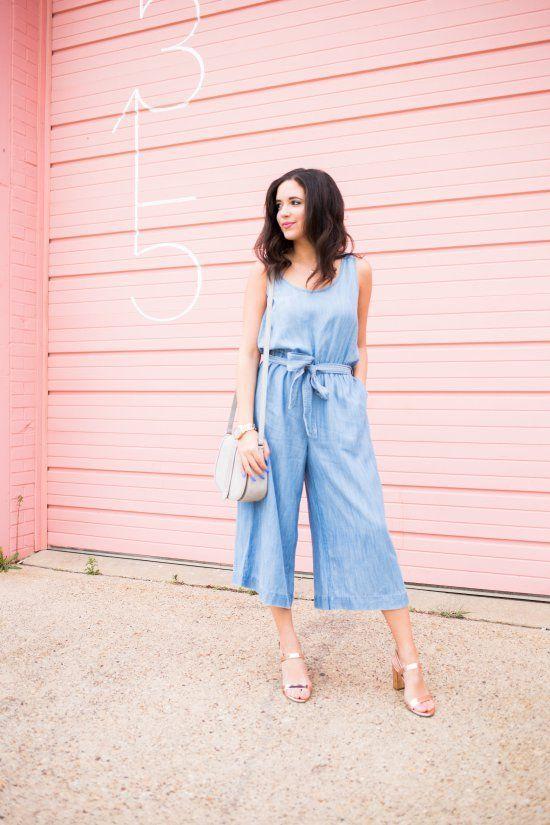 Wide Leg Jean Jumpsuit Style Inspiration Pinterest Jeans