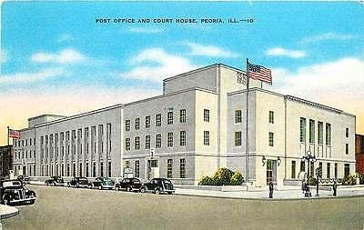 Peoria Illinois IL 1940s Post Office Court House Antique Vintage Postcard Peoria Illinois IL 1940s Post Office and Court House. Unused antique vintage postcard in excellent condition. 29378 TERMS & CO