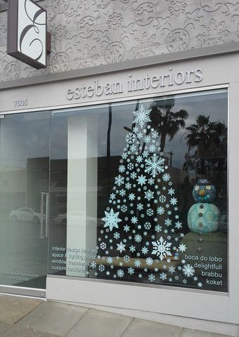 Customer gallery of window flakes snowflake window clings decals