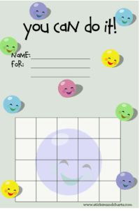Smiley Face Behavior Charts for Preschoolers, Kindergarteners and Toddlers - cute reward charts to print