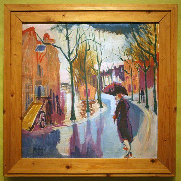 George Martens (1894 -1979) - Kattendiep in de regen