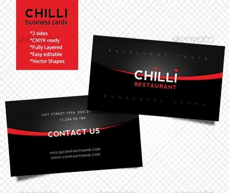 GraphicRiver Chilli business cards 79145