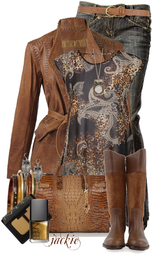 """Leather, Jeans and Paisley"" by jackie22 #Dating Night #Fashion"