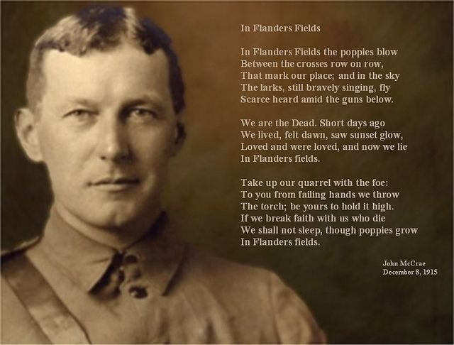 """Remembrance Day - John McCrae """"In Flanders Fields"""" sign (go to http://www.flickr.com/photos/vblibrary/sets/72157625166864005/with/5117801375/ to print this or a blank version of this)"""