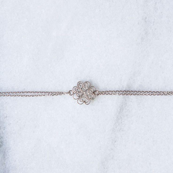 Dina Bracelet Silver via Filirose. Click on the image to see more!