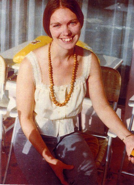 """A picture of Karen Zerby (""""Mama Maria""""), current leader of The Children of God/The Family/The Family International, taken in 1970. Karen """"Maria"""" Zerby believes she was one of Jesus' favourite lovers in a pre-existence, and that she was sent to Earth so the World (and especially the Family) could """"partake in her beauty and purity"""". Ok-ayyy, then..."""