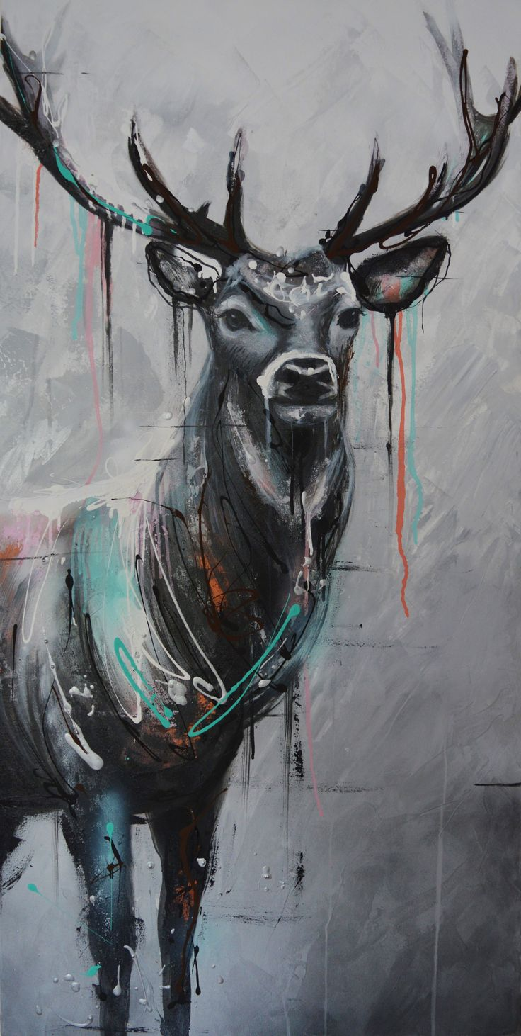 Stag Acrylic Painting