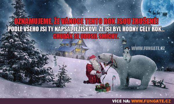 Oznamujeme, že Vánoce tento rok jsou zrušené!