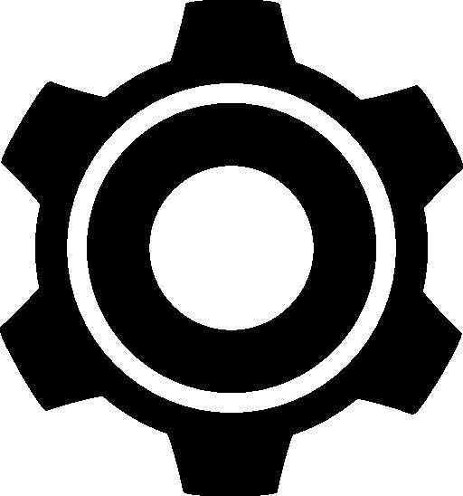 Settings gear symbol f...
