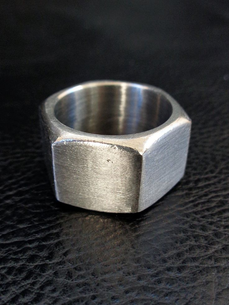 Stainless steel hex nut ring, US size 9, by LogicFreeDesign on Etsy