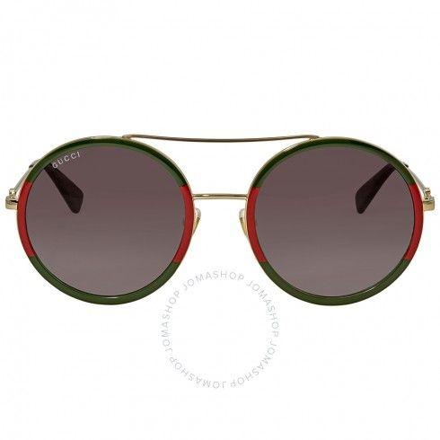 0dd7011899 Gucci Green Gradient Round Sunglasses GG0061S-003 56 - Gucci - Sunglasses -  Jomashop