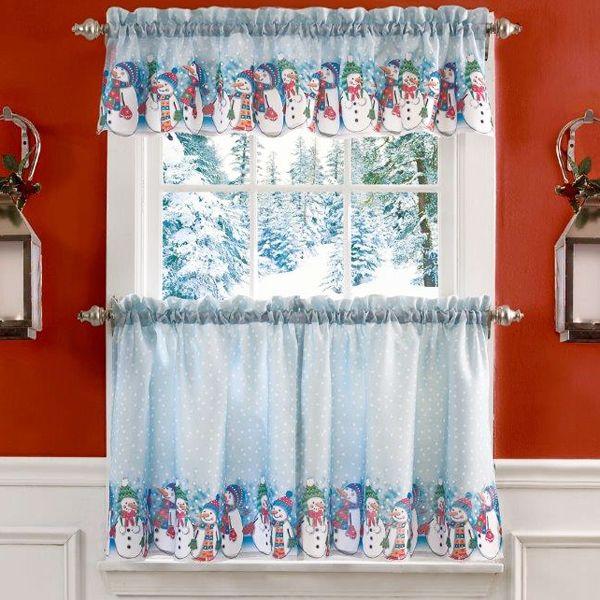 cocina de navidad decoracin de navidad cortinas de la cocina decoracin navidea muecos de nieve cocinas casa hillbilly tier curtains