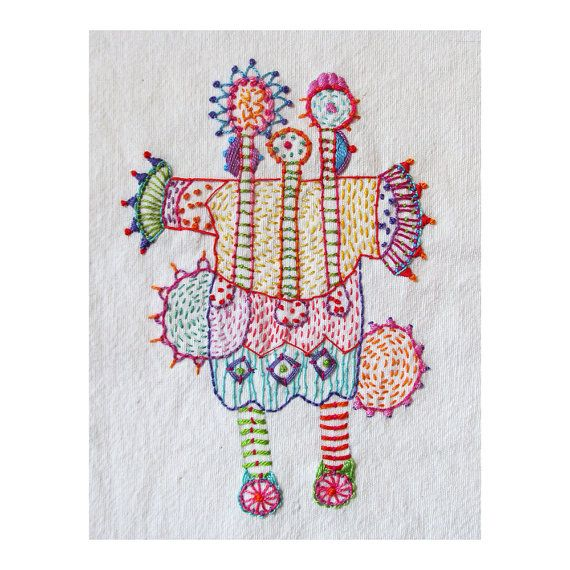 Happy Colorful Spring Blank Card by MadrigalEmbroidery on Etsy, $8.50